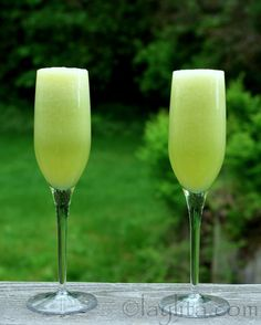 A refreshing take on the classic drink, this honeydew melon bellini is made with honeydew melon, lime juice, and sparkling wine.
