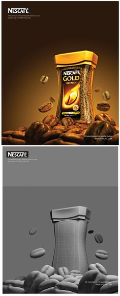 Nescafe 3D Advertisement | Applita Interactive ® on Behance 3d Poster, V Ray Materials, Cinema 4d Tutorial, Id Design, 3d Artwork, 3d Visualization, Creative Posters, 3d Max, 3d Modeling