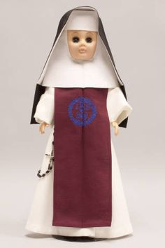 Doll wearing habit worn by Sisters of the Incarnate Word and Blessed Sacrament :: Catholic Sisters International