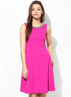 Cerise Embellished Dress