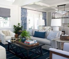 90+ Cozy and Stylish Coastal Living Room Decor Inspirations