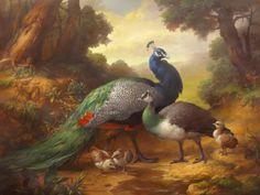 """Peacocks"" - Originals - All Artwork - Dmitry Sevryukov Russian Painting, Russian Art, Painting Gallery, Fine Art Gallery, Peacock Art, Indian Peacock, Art Competitions, Buy Paintings, Bird Art"