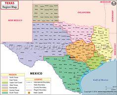 Texas Regions Map