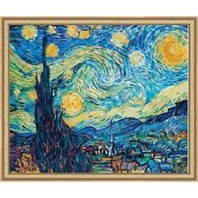 Van Gogh's Starry Night. Paint your own masterpiece - by number!