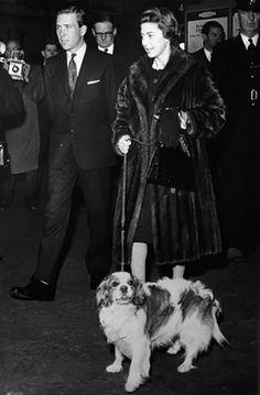 Princess Margaret and her Cavalier King Charles