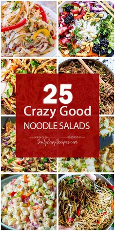 Collection of 25 Noodle Salad Recipes To Vary Your Meal – Page 2 – Yummy – Best Ideas for Dinner Side Salad Recipes, Healthy Recipes, Recipes Dinner, Yummy Eats, Yummy Food, Dressing For Fruit Salad, Best Pasta Salad, Dinner Salads, Family Meals