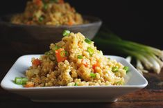 This quick, Easy Low-Carb Cauliflower Fried Rice Recipe can be part of a low-carb, keto, gluten-free, dairy free, whole-30, Atkins, Paleo, or Banting diet.