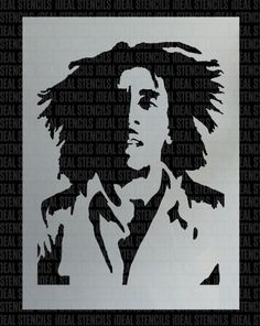 Bob Marley Stencil For Crafts Amp Walls Latching Inspiration Bob Marley Art Art Bob Marley