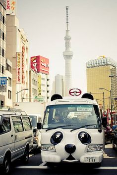 Panda bus! Only in Japan