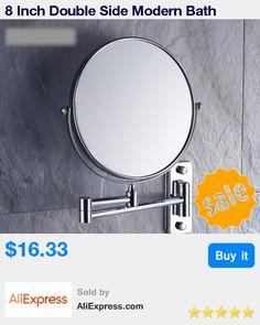 8 Inch Double Side Modern Bath Mirrors Shave Makeup Extend Arm 3x Magnifying Espelho Do Banheiro Bathroom Sanitary Accessories * Pub Date: 20:01 Apr 18 2017