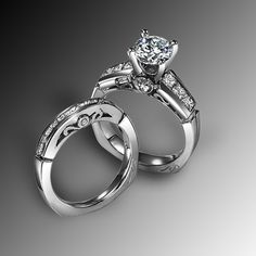 Diamond Engagement Ring. The most gorgeous ring! I would be afraid to loose it or get it dirty :P    uhhh hellllo yes please