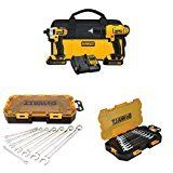 #6: DEWALT DCK240C2 20v Lithium Drill Driver/Impact Combo Kit with SAE and Metric Wrench Sets