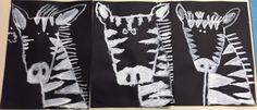 Apex Elementary Art  2nd grade zebras