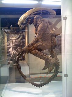 An original #Alien suit seen in a HR Giger expo in Frankfurt, Germany #WeylandYutani