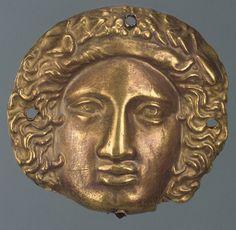 Scythian Gold Dionysus (?) Plaque , 4th Century BCFound in the The Chertomlyk Barrow, Dnieper Area, near Nikopol, Ukraine