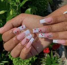 White Tip Acrylic Nails, Bling Acrylic Nails, Cute Acrylic Nail Designs, Square Acrylic Nails, Summer Acrylic Nails, Art Nails, Kylie Nails, White French Tip, Tapered Square Nails