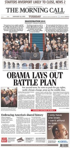 The Morning Call, Allentown, Pennsylvania | The 27 Best Local Newspaper Front Pages About The Inauguration