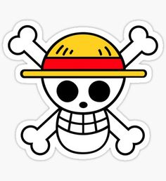 Buy 'One Piece Flag Sticker Monkey D Luffy' by hrosedesigns as a Sticker, Transparent Sticker, or Glossy Sticker One Piece Anime, One Piece Luffy, Anime One, One Piece Logo, One Piece Tattoos, Pieces Tattoo, Monkey D Luffy, Tatuagem One Piece, Pirate Symbols
