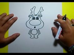 Como dibujar un reno paso a paso 2 | How to draw a reindeer 2 - YouTube