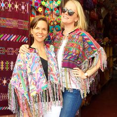 Vintage Maya Textile Fringed Capes from Coleccion Luna