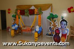 Naming Ceremony Best Decoration In Pune. From Top Event Planners From Pune. Diwali Decorations, Birthday Decorations, Baby Shower Decorations, Flower Decorations, Naming Ceremony Decoration, Ceremony Decorations, Baby Decor, Kids Decor, Cradle Decoration
