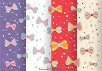 Bow Ties Pattern Vectors