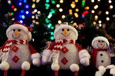 Muñecos de nieve navideños.  #Navidad