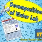 Fun with water! Let students separate water into hydrogen and oxygen with this simple and FUN reproducible lab! $