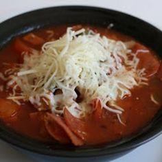 CrockPot Pizza Soup Recipe Recipe - A Year of Slow Cooking & ZipList