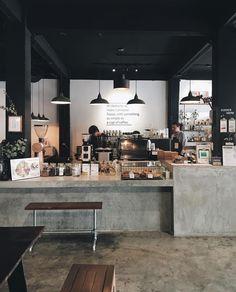 Bar Interior Design, Cafe Interior, Cafe Shop Design, Store Design, Container Coffee Shop, Loft Cafe, Small Coffee Shop, Studios Architecture, Cafe Food