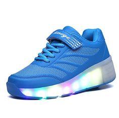 Lunares Zapatos LED Con Una Sola Ruedas
