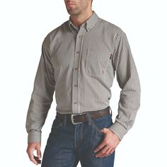 ebd4be8fd41d Ariat® Men s FR Flame Resistant Coffee Bean Basic Work Shirt 10013511