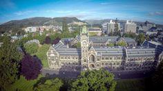 Dunedin University Clock Tower, Dunedin, Otago, New Zealand New Zealand, University, Tower, Clock, Mansions, House Styles, Watch, Lathe, Luxury Houses