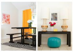 Love the bright yellow curtains...     Diningarea.jpg 758×548 pixels