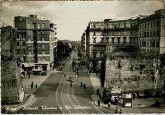 Foto storiche di Roma - Piazzale Tiburtino e Via Tiburtina Anno: cartolina viaggiata nel 1959 Rome, Louvre, Street View, Statue, City, World, Building, Travel, Antique
