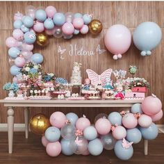 Best balloon Party styling, Party decoration, balloon garland, balloon backdrop,… - Home Page Baby Shower Menu, Baby Girl Shower Themes, Girl Baby Shower Decorations, Birthday Decorations, Butterfly Birthday Party, Butterfly Baby Shower, Baby Girl Birthday, Balloon Backdrop, Balloon Garland