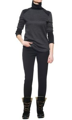 These Are the Best Cold Weather Pants—Seriously! Maybe when I win the lottery; Black Leggings, Black Pants, Cold Weather Pants, Fall Winter Outfits, Timeless Fashion, Plus Size Fashion, Fashion News, What To Wear, Autumn Fashion