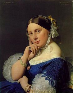 Delphine Ramel, Madame Ingres, 1859 (Jean Auguste Dominique Ingres) (1780-1867) Museum Oskar Reinhart am Stadtgarten, Winterhur