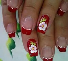 Cute Acrylic Nails, Cute Nails, Pretty Nails, Toe Nail Designs, Nail Polish Designs, French Nail Art, Floral Nail Art, Beautiful Nail Designs, Flower Nails