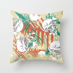Abstract pillow new zealand fern design indoor or by NewCreatioNZ, $35.00