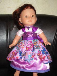 vêtement poupée 36 cm ma corolle robe de princesse ton violet parme rose : Jeux, jouets par missblue