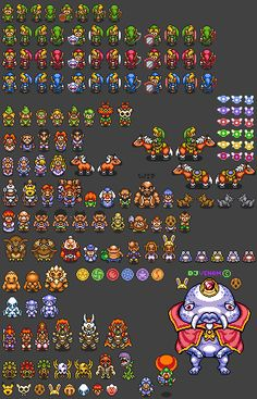 Ocarina of Time to A Link to the Past Style Project Sprite Sheet