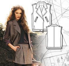 Read the article 'Sewing Lesson: Biker Vest 132 08/2011' in the BurdaStyle blog 'Daily Thread'.