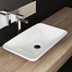 Aufsatzwaschbecken gäste wc oval  NEG Waschbecken Uno33A (groß/oval), Aufsatz-Waschschale/Waschtisch ...