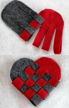 Lovely Gift Idea for Valentine& Day & DIY christmascraftssewing Valentines Day Decorations, Valentine Crafts, Holiday Crafts, Fabric Ornaments, Felt Ornaments, Valentine's Day Diy, Felt Hearts, Felt Christmas, Hobbies And Crafts