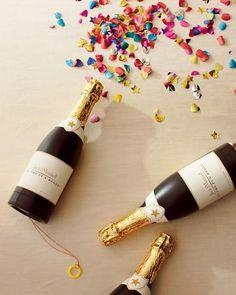 Champagne confetti cannons!