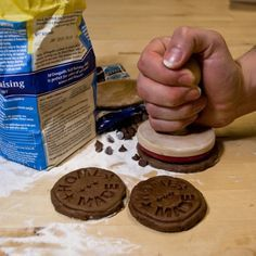 Make sure your eaters know every treat you make is homemade by using an embossed cookie stamp.