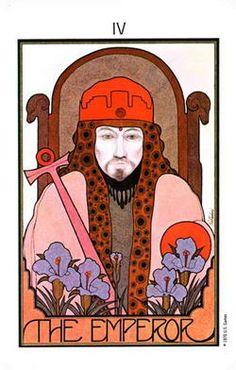 IV The Emperor - The Aquarian Tarot Deck. Artist: David Palladini, published by Morgan press, 1970