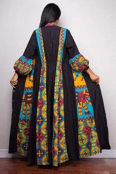 Fashions Women S Blouson Halter Crochet Dress Abaya Fashion, Muslim Fashion, Kimono Fashion, Fashion Dresses, Mode Abaya, Mode Hijab, Iranian Women Fashion, African Fashion, Boho Fashion Over 40