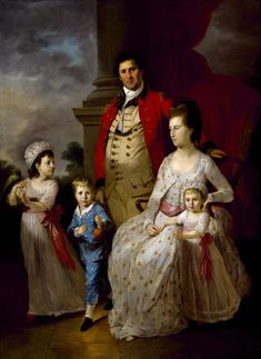 Tilly Kettle - Colonel John Fortnum and Family, 1775